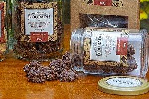 Crisp de Amendoim com Chocolate Meio Amargo - Dourado de Amendoim