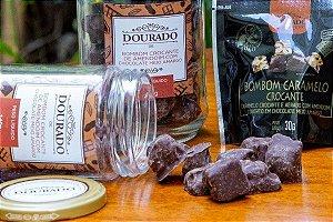 Bombom de Amendoim com Chocolate Meio Amargo - Dourado de Amendoim