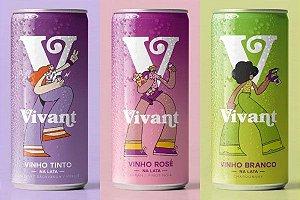 Kit Vinhos em Lata - Vivant Wine