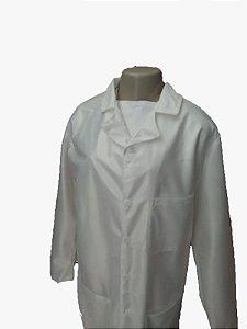 Jaleco unissex, PERSONALIZADO, manga longa em tecido antiviral, anti odor, repelente a liquido, confortável.