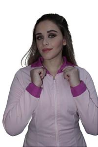 Jaleco Quartzo Rosa feminino.