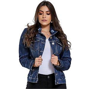 Jaqueta Jeans Zayon Azul