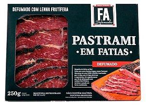PASTRAMI ARTESANAL DEFUMADO EM FATIAS - FA DEFUMADOS - 250g
