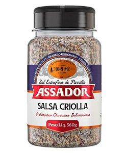 SAL DE PARRILLA ASSADOR COM SALSA CRIOLLA - BRASERO URUGUAYO - JOHN MC - 560g