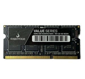 MEMORIA DDR3 4GB 1600 MHZ NOTEBOOK RISEMODE