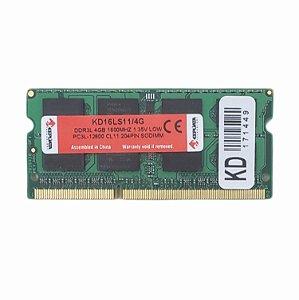 MEMÓRIA KEEPDATA DDR3L 4GB NOTEBOOK