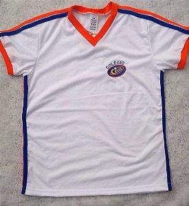 Camiseta manga curta branca com galão Ceus