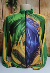 Camisa Ciclista Unissex Brasil, Ziper total - 0CAM1500-CIC001
