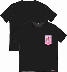 Camiseta com Bolso Personalizados - Pantera Cor-de-Rosa