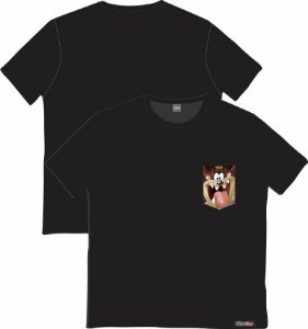 Camiseta com Bolso Personalizados - Taz
