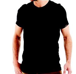 Camiseta Básica em Algodão Penteado Fio 30.1 Slimfit