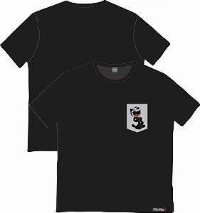 Camiseta com Bolso Personalizados - Gato Félix