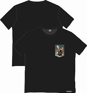 Camiseta com Bolso Personalizados - Capitão Caverna