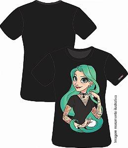 Camiseta Princesa Tatuada  - Rapunzel