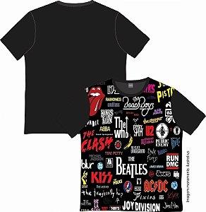 Camiseta Rock and roll Bandas