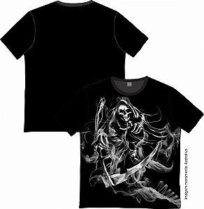 Camiseta Rock and roll Smoke Skull