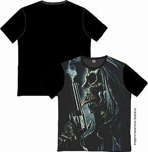 Camiseta Rock and roll Skull