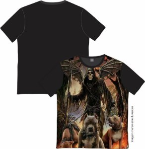 Camiseta Rock and roll Wing Skull