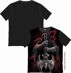 Camiseta Rock and roll Guitar Skull 01