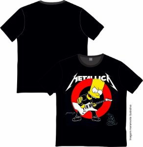Camiseta Rock and roll Metalica