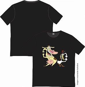 Camiseta Cartoon - A Vaca e o Frango