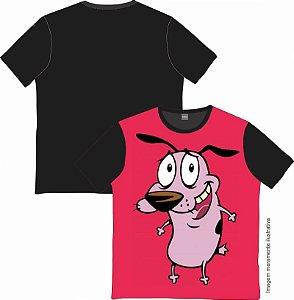 Camiseta Cartoon - Coragem, o Cão Covarde