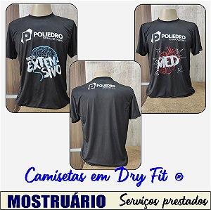 Camiseta Dry fit com estampa total - Poliédro Sistema de Ensino