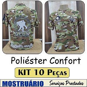 """Poliéster Confort """"Toque de algodão"""" - KIT com 10 peças"""