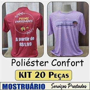 """Poliéster Confort """"Toque de algodão"""" - KIT com 20 peças"""