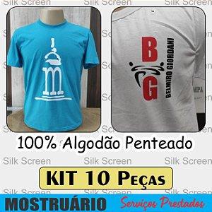 Camisetas 100% Algodão Penteado Malha 30.1 - Silk Screen