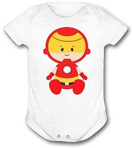 Body de bebê - Heróis Baby - Homem de Ferro
