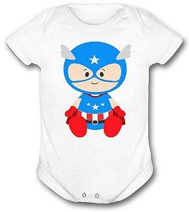 Body de bebê - Heróis Baby - Capitão América