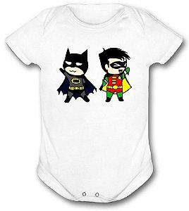 Body de bebê - Heróis Baby - Batman e Robin