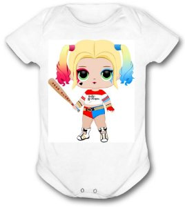Body de bebê - Heróis Baby - Arlequina