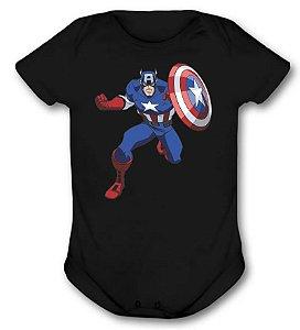Body de bebê - Capitão América