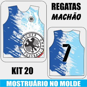 KIT 20 peças - Camisetas Regata MACHÃO - Compre aqui, personalize e receba do seu jeito