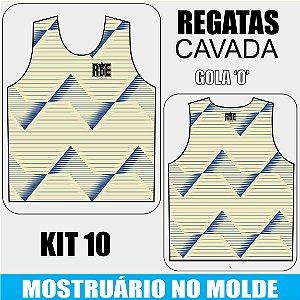KIT 10 peças - Camisetas Regata Cavada - Compre aqui, personalize e receba do seu jeito