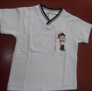Camiseta manga curta branca Pequeno Sábio