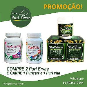 PROMOÇÃO - CREME PURI ERVAS - COMPRE 2 E GANHE + 1 PURI CART E + 1 PURI VITA