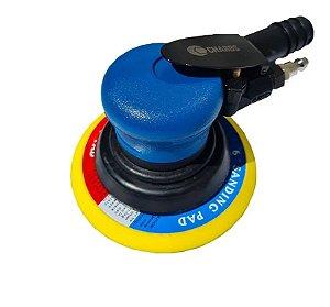 Hookit Roquite lixadeira roto orbital pneumatica 6 polegadas com nipple prologandor para engate rápido, e aspiração de pó