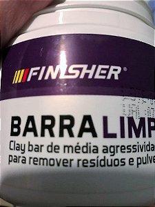 Barra limpadora clay bar finisher media agressividade. vendida fracionada, não é grudenta e descontamina a pintura muito bem