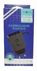 Carregador Turbo 5.1a Turbo V8 3 Saídas Usb Inova G5100 Novo