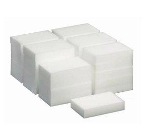 Esponja Melamina 10x6x2 Cm Magic Spongekit C/ 20un Sem Sabao limpa sem usar sabão