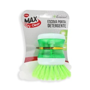 Escova de limpeza com porta detergente/sabão dispenser