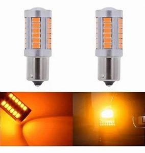 2 Lampadas Lanterna Led Alumínio Amarelo alaranjado Seta Pisca Ré 12v pronta entrega no brasil PREÇO REFERENTE AO PAR