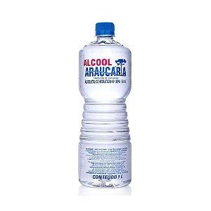 alcool etilico hidratado araucária 46 INPM transparente, sem aroma