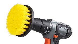 Escova Drill Cerdas Médias com Adaptador para parafusadeira/furadeira- Detailer (Ideal para limpeza de Estofados e Colchões, bancos de tecidos, capertes)