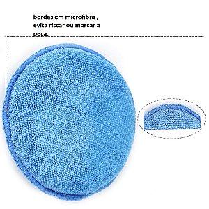 Aplicador de microfibra azul tamanho 5 polegadas, alta qualidade , F9 VENDAS.