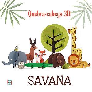 Quebra cabeça 3D Savana - 4+