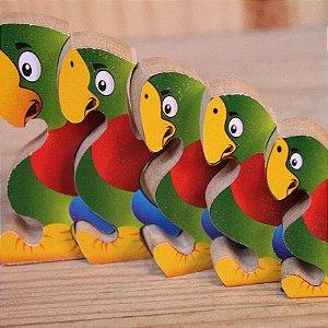 Mini Quebra-cabeça Zoo Periquito - 18m+